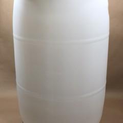 55 Gallon Natural (Translucent) Closed Head (Tight Head) Plastic UN Drum